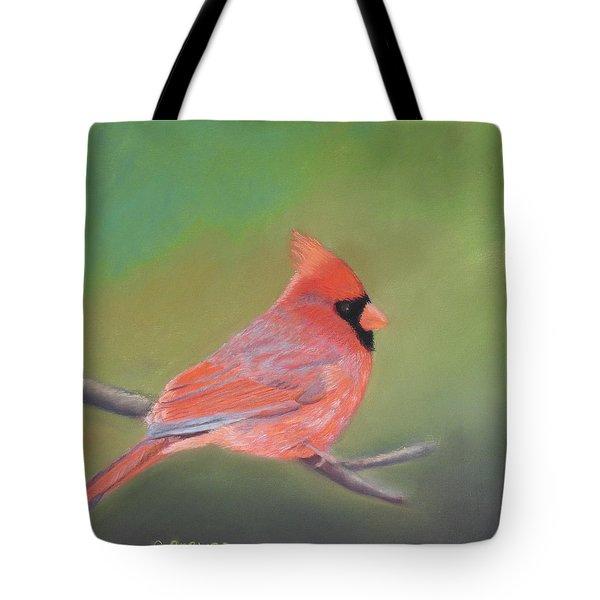 Bonded Pair - Male Cardinal Tote Bag