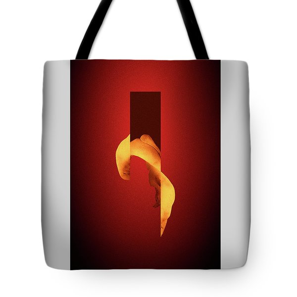Bone Flare - Surreal Abstract Elephant Bone Collage With Rectangle Tote Bag