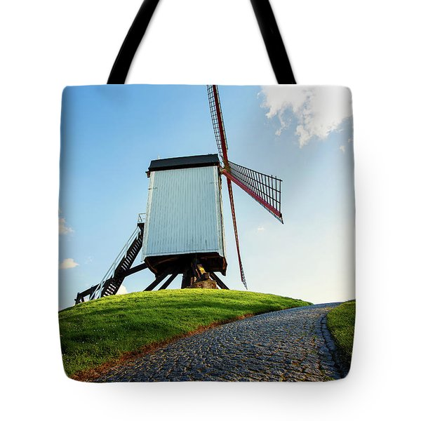 Bonne Chiere Windmill Bruges Belgium Tote Bag