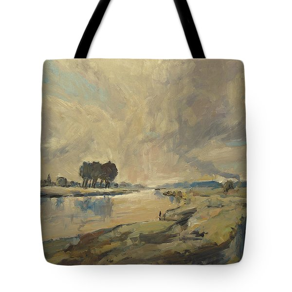 Border Maas Near Kotem With The View To Meers Tote Bag