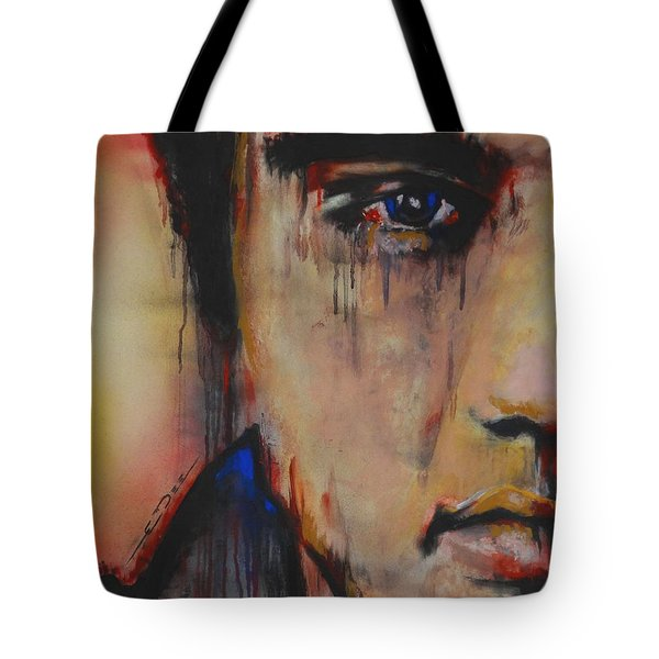 Tote Bag featuring the pastel Born Standing Up by Eric Dee