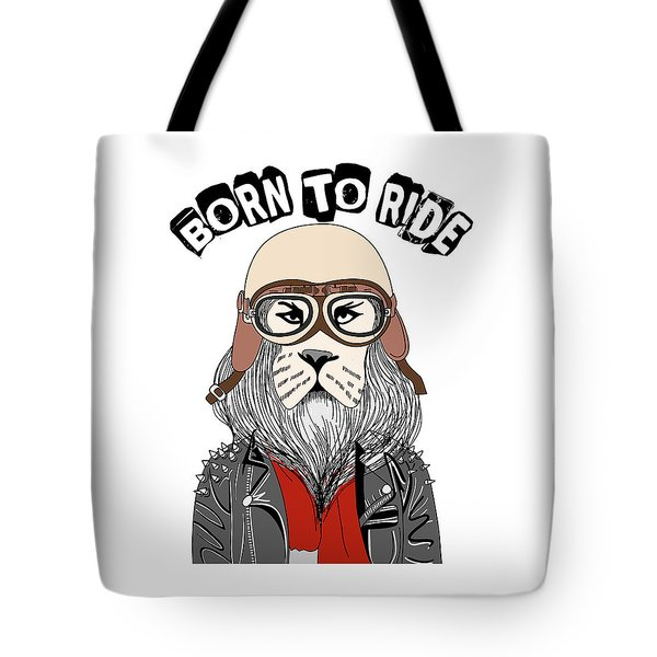 Born To Ride - Baby Room Nursery Art Poster Print Tote Bag