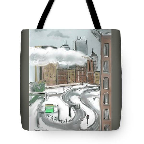 Boston After The Blizzard Tote Bag