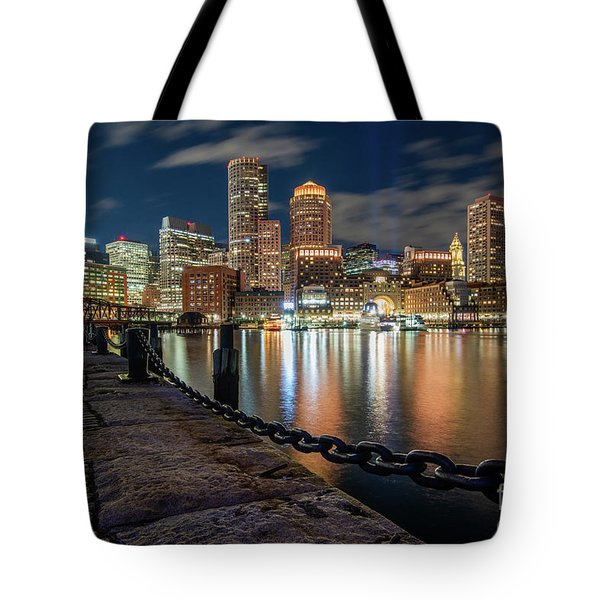 Boston At Blue Hour Tote Bag