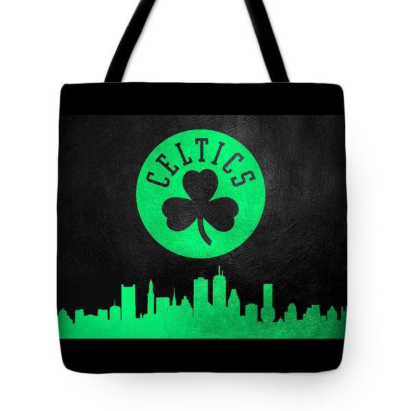 Boston Celtics Skyline Tote Bag