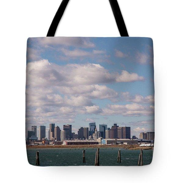Boston Cityscape Tote Bag
