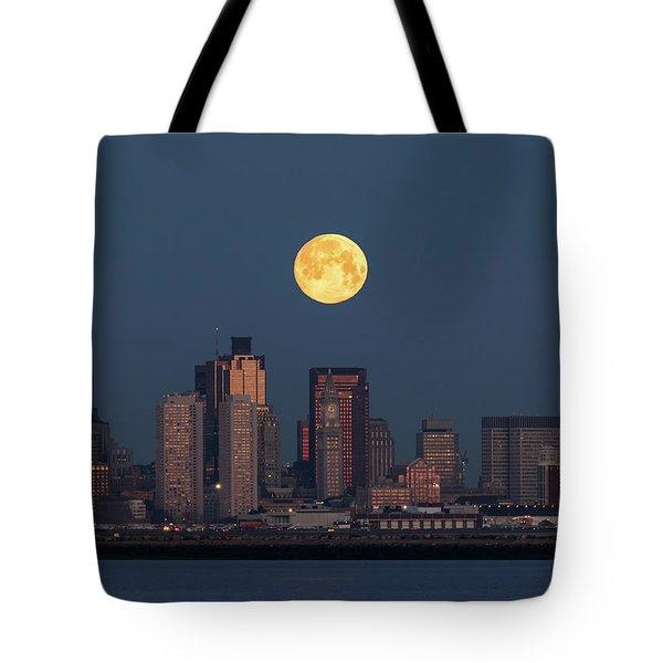 Boston Moonset Tote Bag