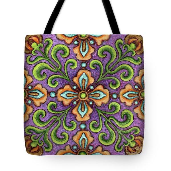 Botanical Mandala 10 Tote Bag