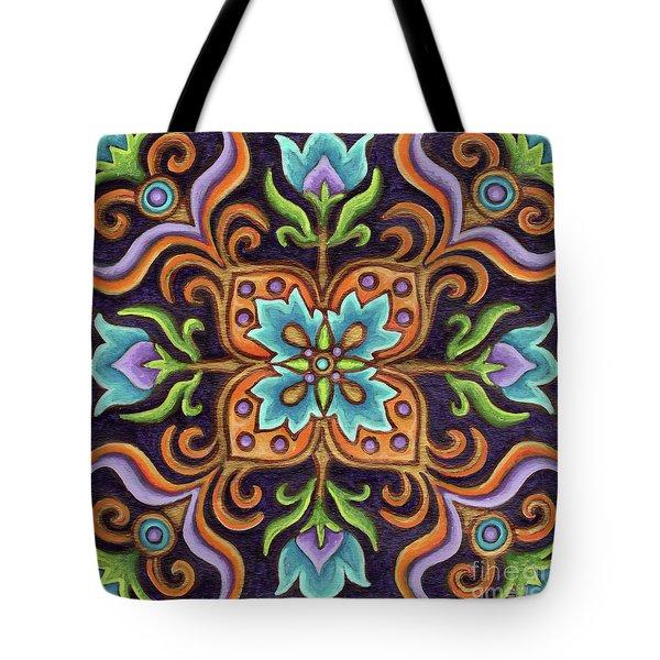 Botanical Mandala 12 Tote Bag