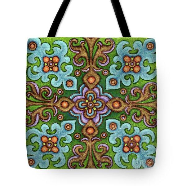 Botanical Mandala 4 Tote Bag