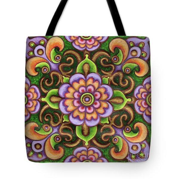 Botanical Mandala 5 Tote Bag