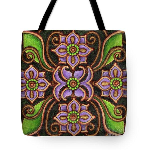Botanical Mandala 6 Tote Bag