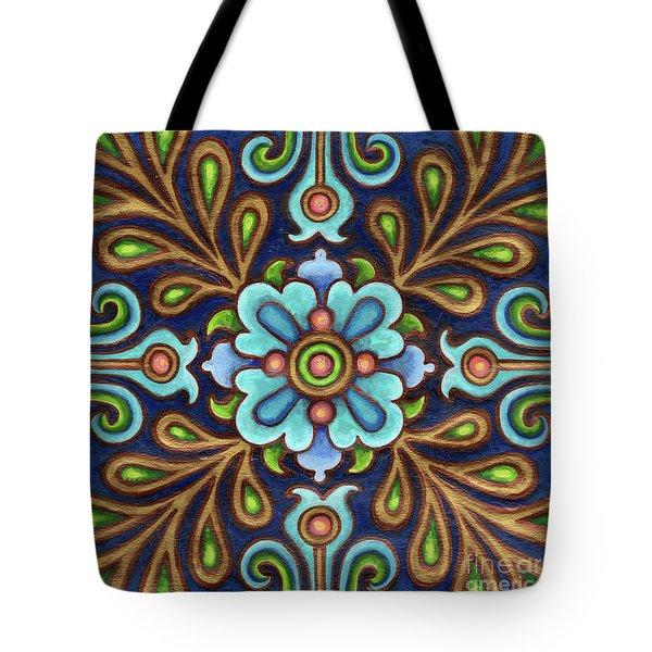 Botanical Mandala 9 Tote Bag