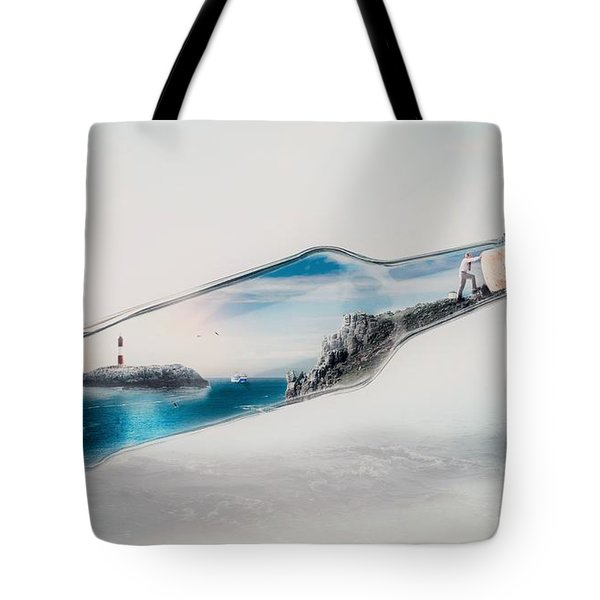 Bottle Island Tote Bag