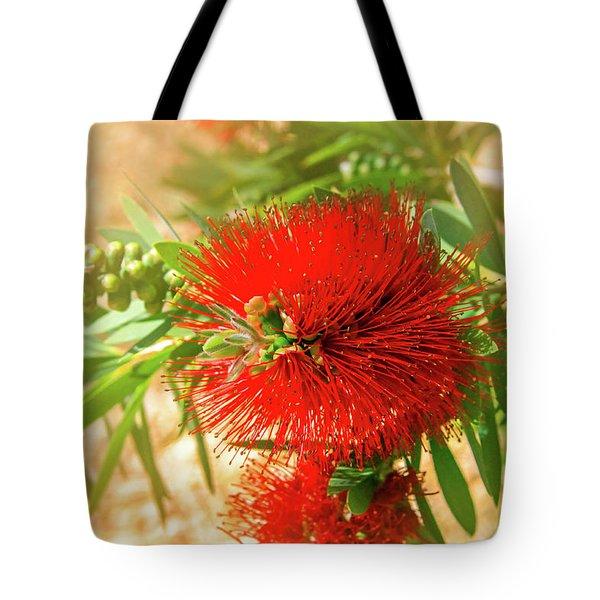 Bottlebrush Bloom Tote Bag