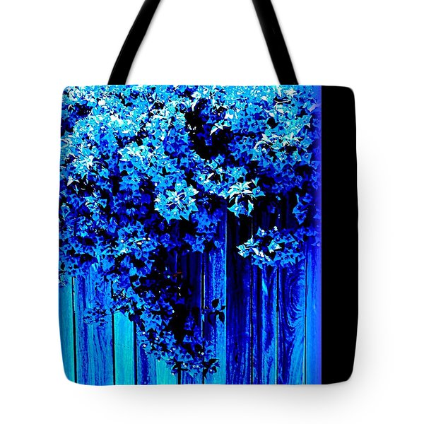 Tote Bag featuring the photograph Bougainvillea Blues by VIVA Anderson