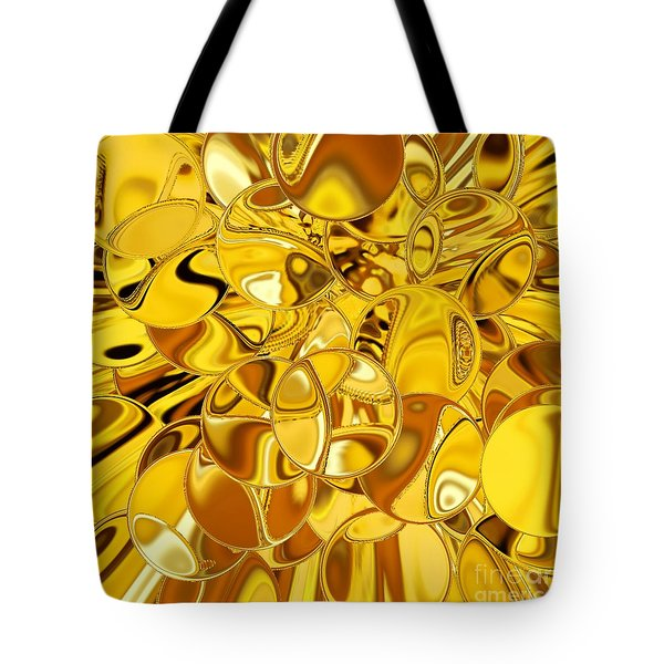 Tote Bag featuring the digital art Boules D Or by A zakaria Mami