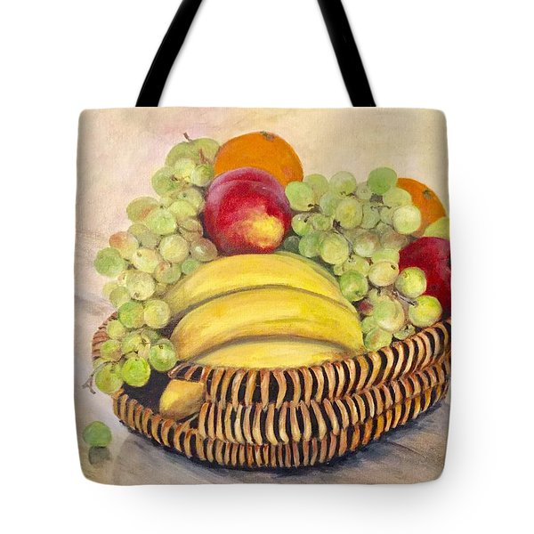 674332aa5762 Tote Bag featuring the painting Bountiful Basket by Anne Barberi