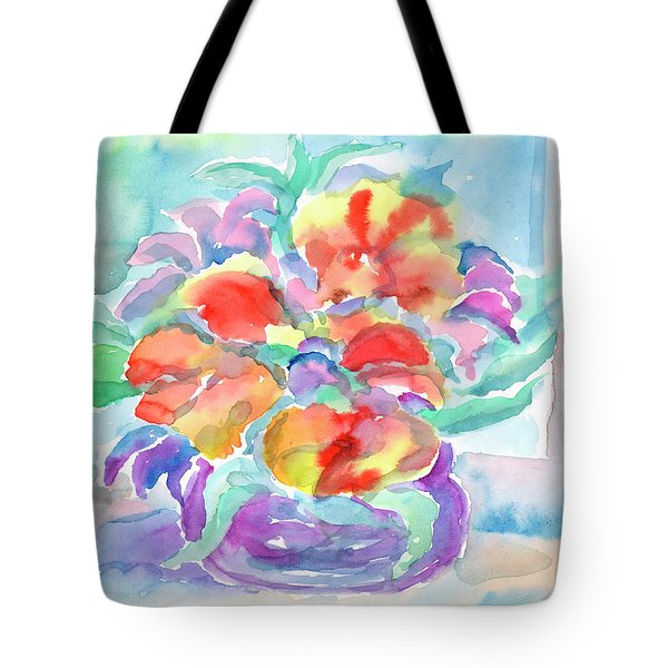 Tote Bag featuring the painting Bouquet Of Flowers by Dobrotsvet Art