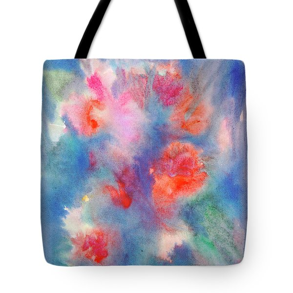 Tote Bag featuring the painting Bouquet Of Roses by Dobrotsvet Art
