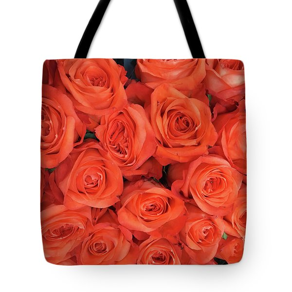 Bouquet Of The  Living Coral Roses Tote Bag