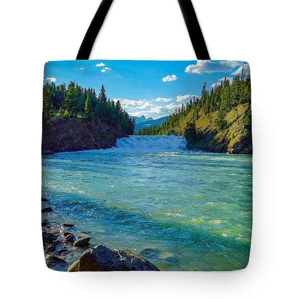 Bow River In Banff Tote Bag