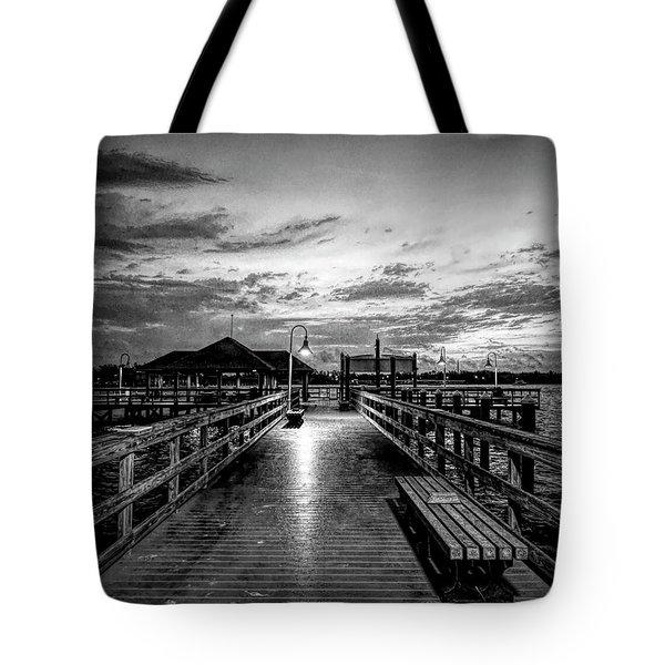 Bradenton Beach City Pier Tote Bag