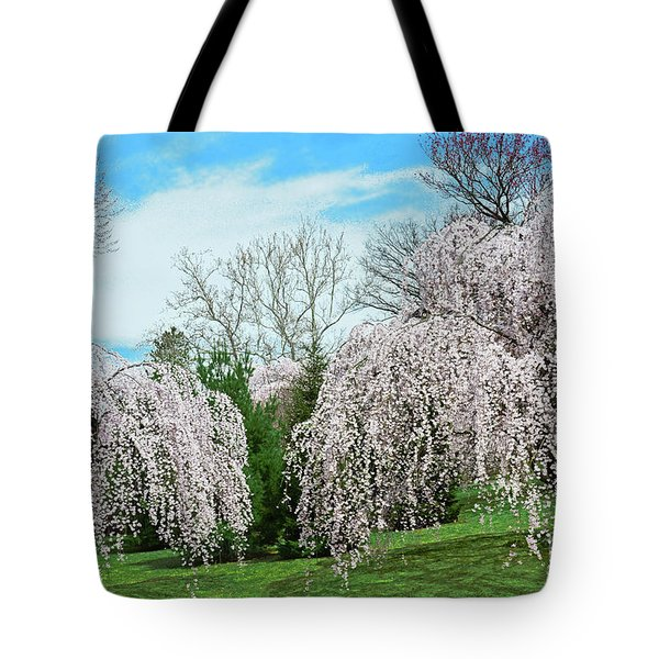 Branch Brook Park Weeping Cherry Trees Tote Bag