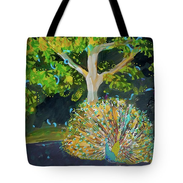 Branching Out Peacock Tote Bag