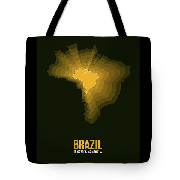 Brazil Radiant Map 1 Tote Bag
