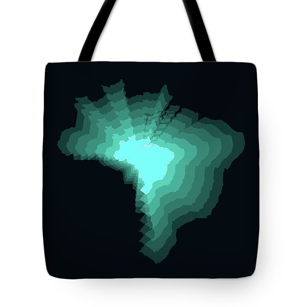 Brazil Radiant Map 2 Tote Bag