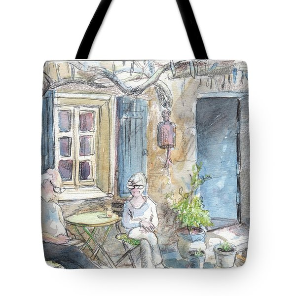 Breakfast Al Fresco Tote Bag