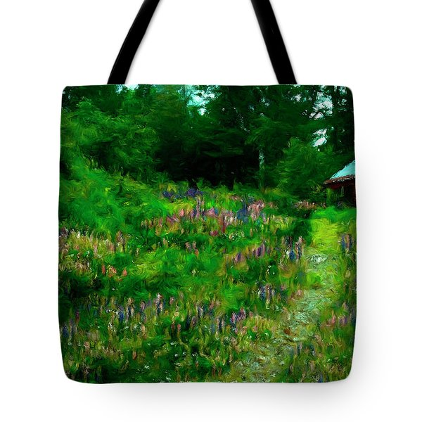 Tote Bag featuring the photograph Breeze On The Lupine Field by Wayne King