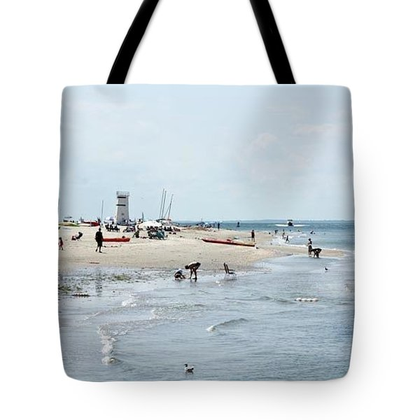 Breezy Point Lighthouse Summer Days Tote Bag