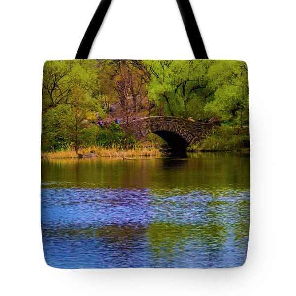 Bridge In Central Park Tote Bag
