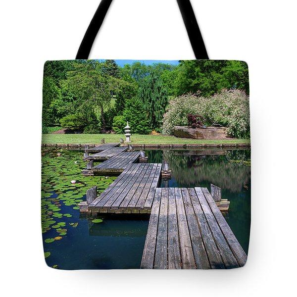 Bridge Over Serene Waters Tote Bag