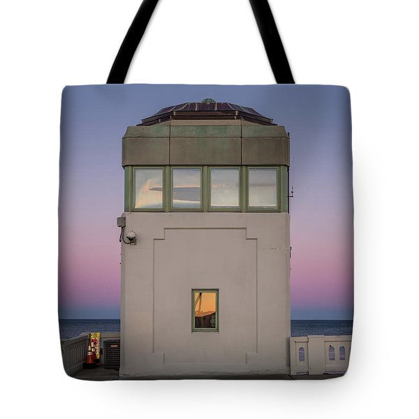 Tote Bag featuring the photograph Bridge Tender's Tower by Steve Stanger