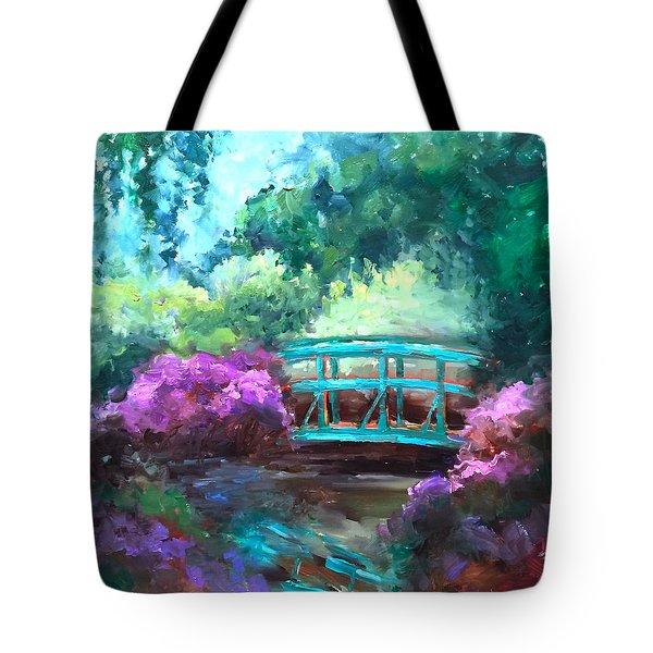 Bridge To Monet Tote Bag