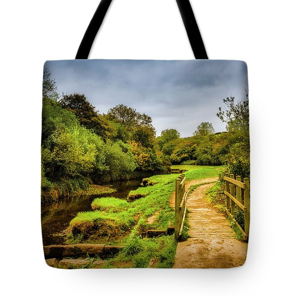 Bridge With Falling Colors Tote Bag