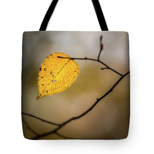 Tote Bag featuring the photograph Bright Fall Leaf 8 by Michael Arend