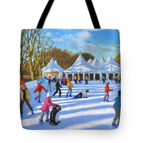 Bright Morning, Hampton Court Palace Ice Rink, London Tote Bag