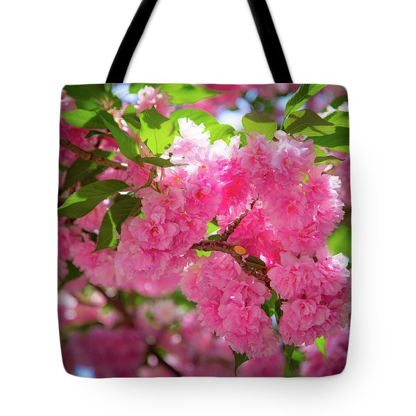 Bright Pink Blossoms Tote Bag