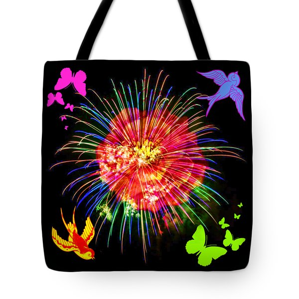 Tote Bag featuring the digital art Bright Side Of Life by Sabine ShintaraRose