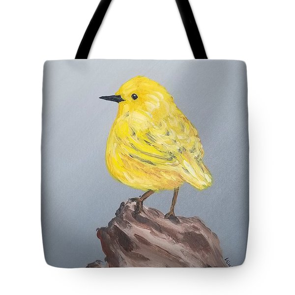 Tote Bag featuring the painting Bright Spot by Maria Langgle