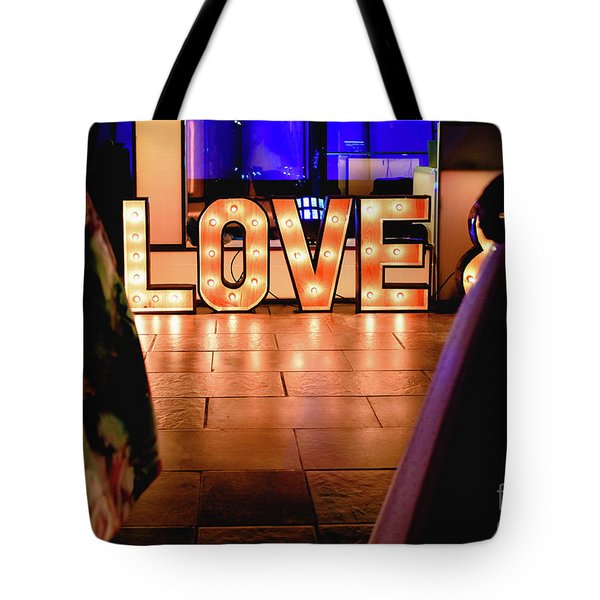 Bright Wooden Letters With Word Love In A Party Tote Bag