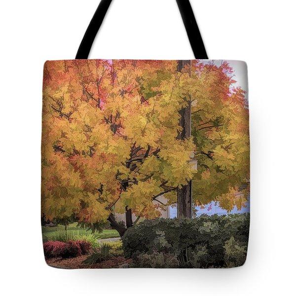 Brilliant Fall Color Tree Yellows Oranges Seasons  Tote Bag