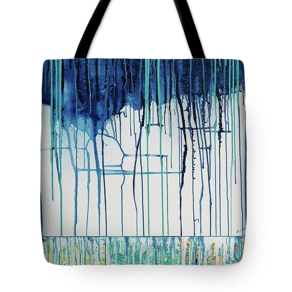 Tote Bag featuring the painting Bring The Rain by Annie Young Arts