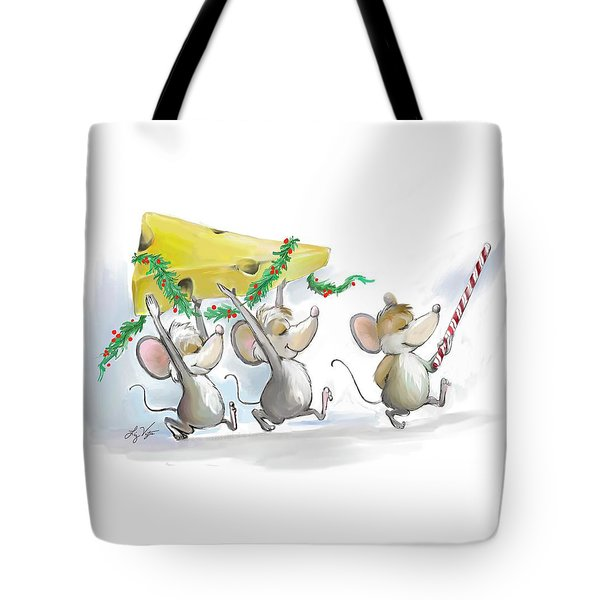Bringing In The Christmas Cheese Tote Bag