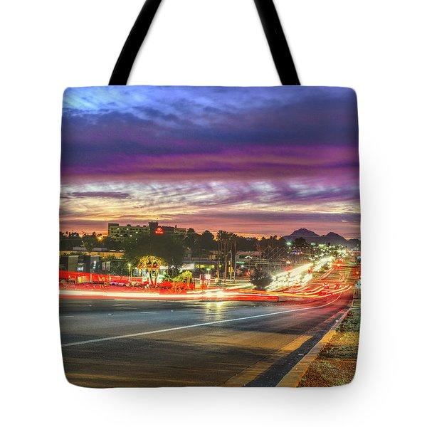 Broadway Sunset, Tucson, Az Tote Bag