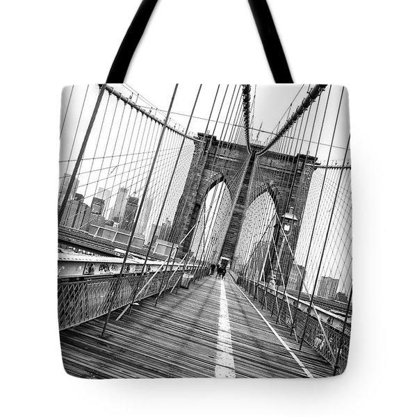 Brooklyn Bridge Walkway Tote Bag